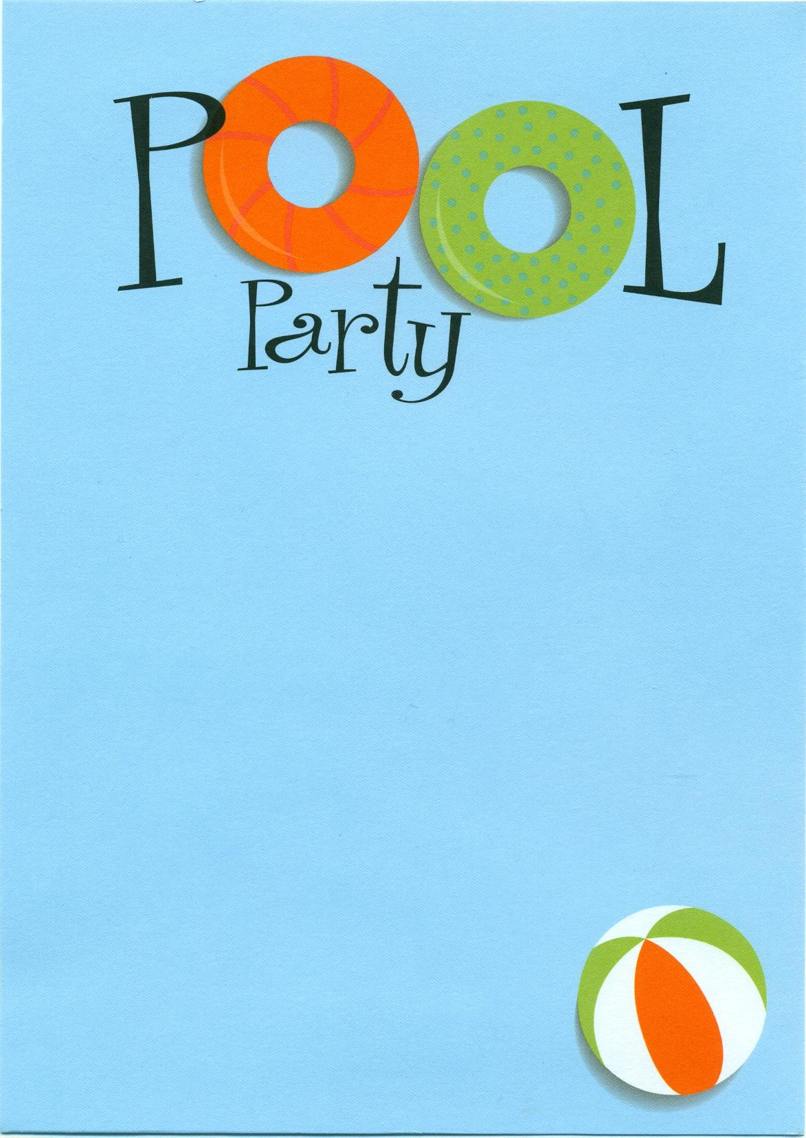 Adult pool party clipart