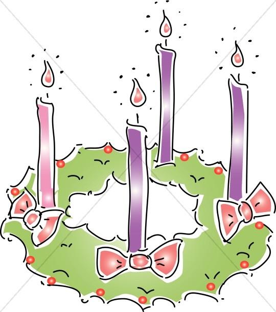 Advent Wreath Christmas Clipart
