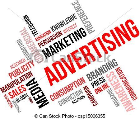 word cloud - advertising - csp15006355