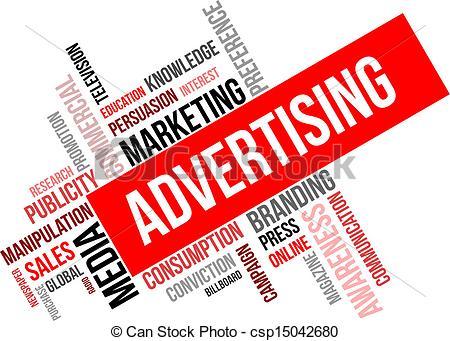 word cloud - advertising - csp15042680