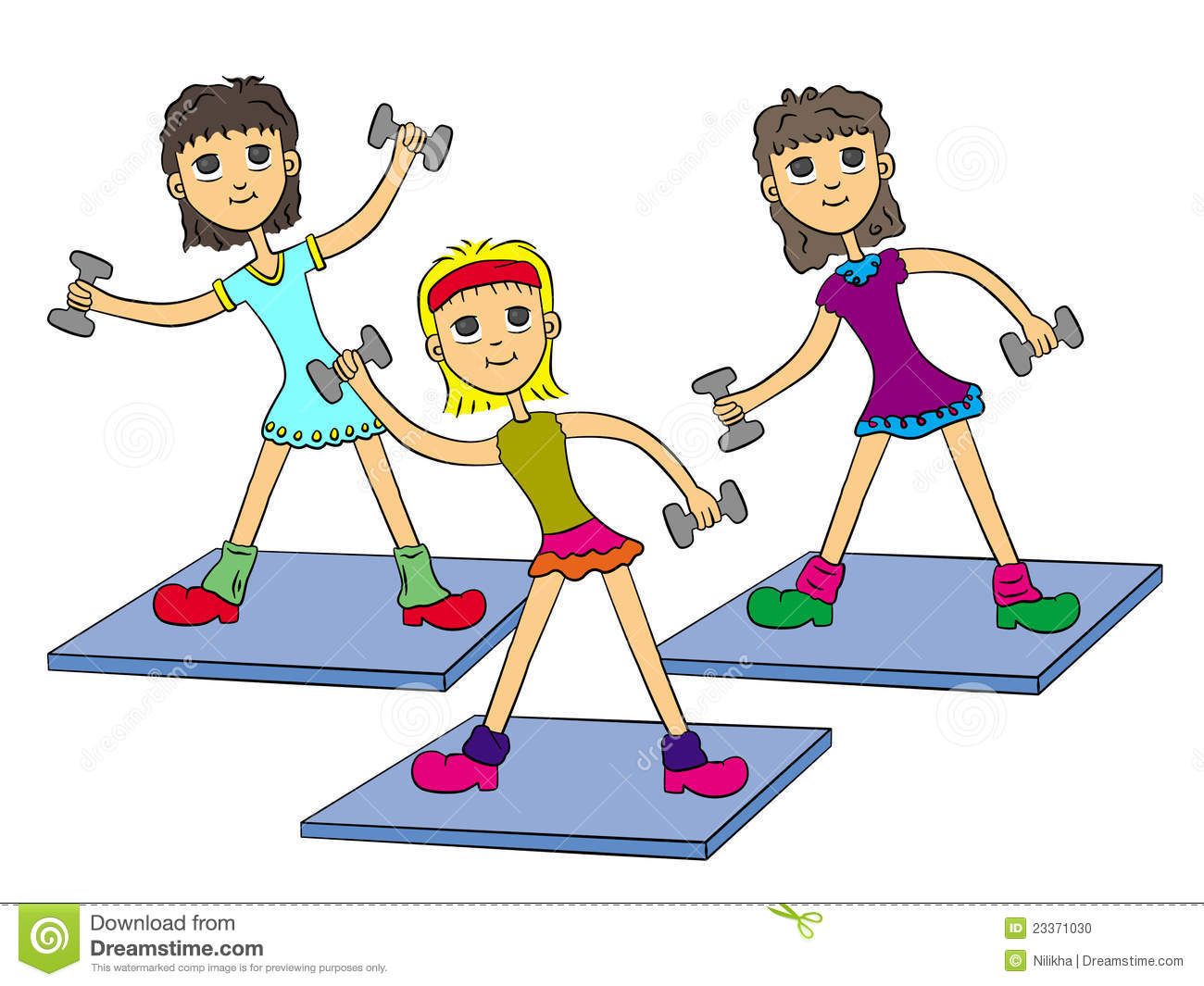 aerobics clipart 7