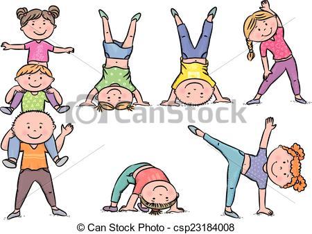 Kids aerobics - csp23184008