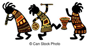 African Masks 2 Clipartby Malchev19/4,773 African national patterns -  Dancing musicians. African.
