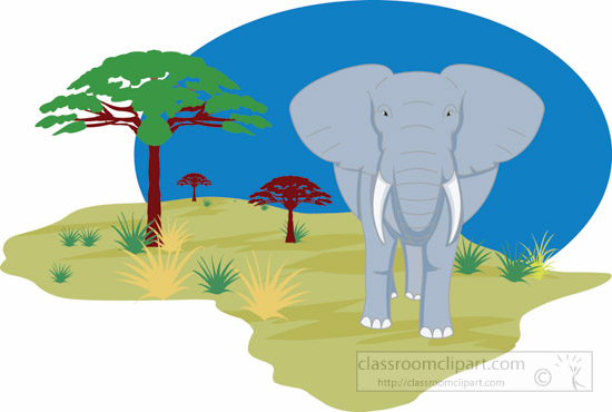 elephant-in-african-land-afri - Africa Clipart