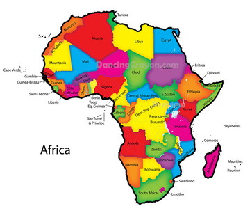 Maps Of Africa: Clip Art Map Set
