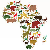 Wild Africa poster; Africa - Africa Clipart