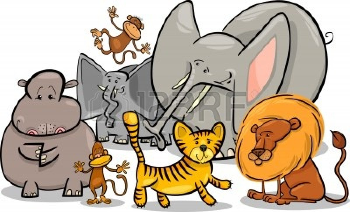 wild animals in africa clipart