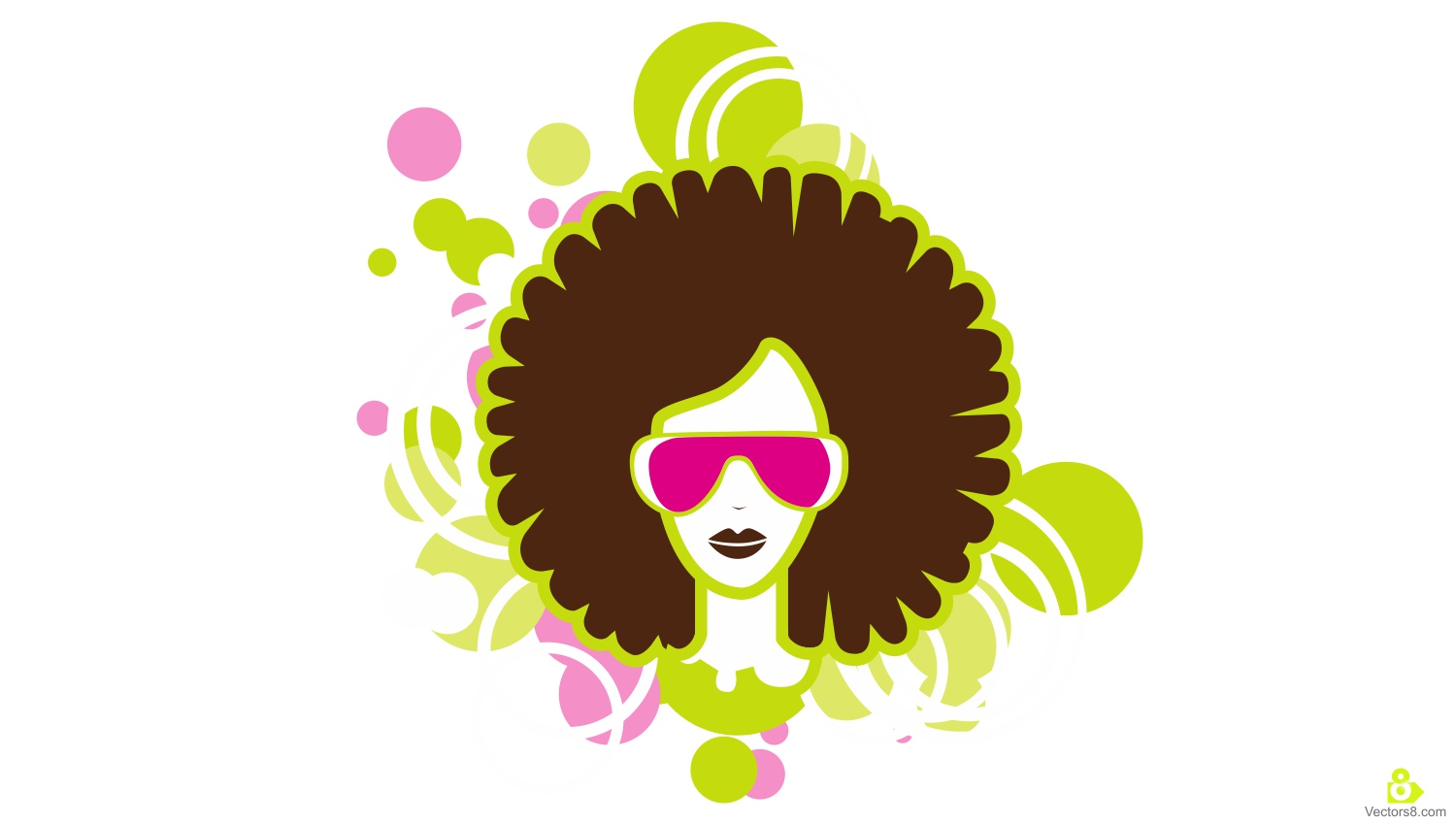 Afro Woman with Natural Hair