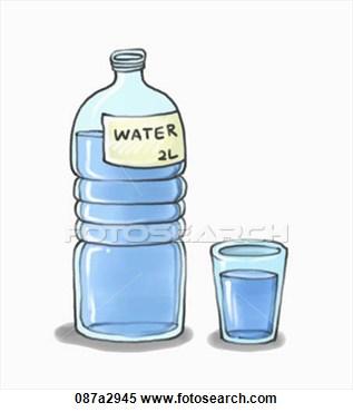 Agua Water Bottle Clipart