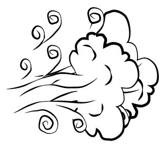 air clipart black and white 6