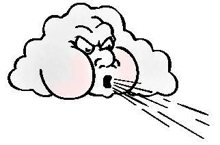 Cartoon Puff Of Air Clipart #1