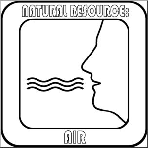 Clip Art: Natural Resources: Air Bu0026W Labeled I abcteach hdclipartall.com - preview 1