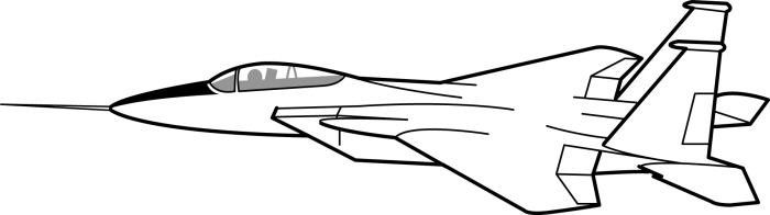 Airplane Clipart Black and .