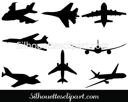 Airplane Silhouette Clip Art Pack Download Free   MILITARY VECTOR GRAPHICS   Pinterest   Clip art, Art and Silhouette