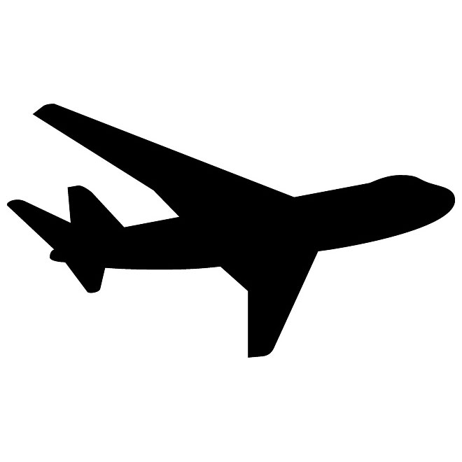 AIRPLANE SILHOUETTE VECTOR .