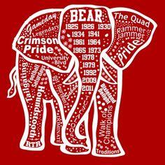 Alabama Elephant outline ss t .