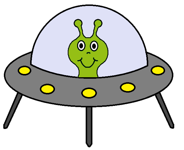 Alien and spaceship clipart clipart