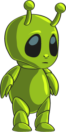 Free Cute Green Alien Clip Ar - Alien Clipart