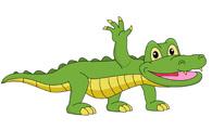Alligator Clipart Size: 64 Kb