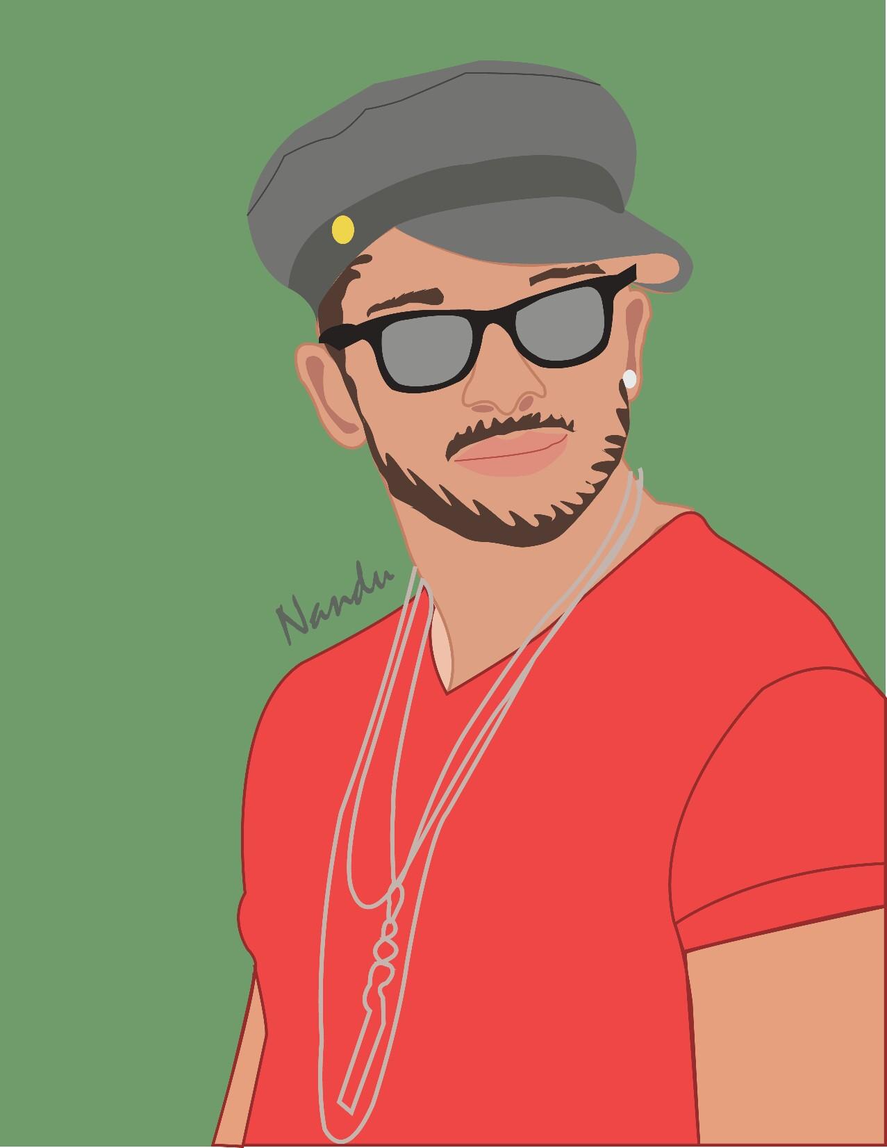Allu Arjun vector portrait designed with Passion.