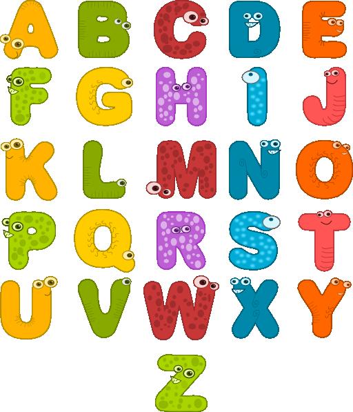 Alphabet clipart letters clipart image