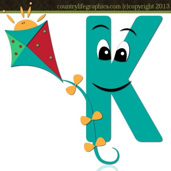 Alphabet Letter K 1 - CLG .