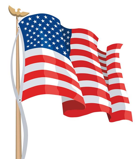 American flag clip art vectors .