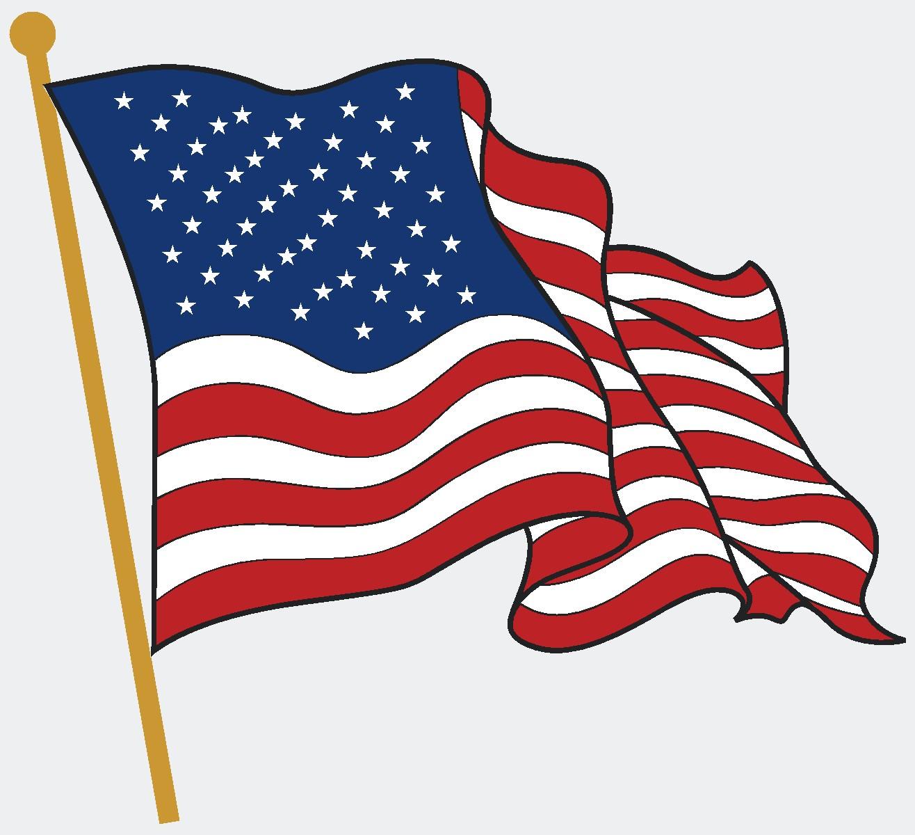 American Flags Clipart - American Flag Clipart
