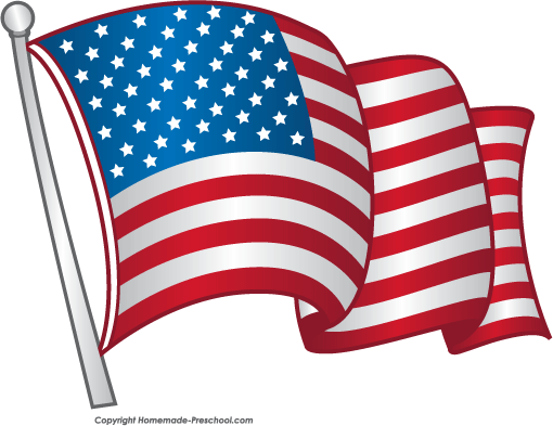 American Flag Clipart Black And White   Clipart library - Free