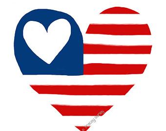 ... American flag clipart straight ...