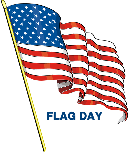 American Waving Flag Happy Flag Day Clipart