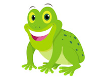 Smiiling Big Eyed Green Frog Clipart Size: 59 Kb