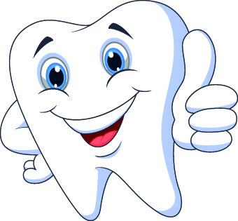 amusing dental design elements vector