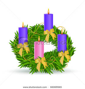 An Advent Wreath - Clipart