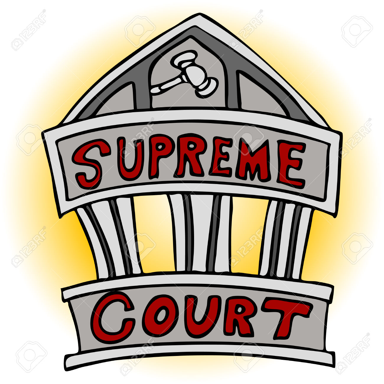 An image of the supreme court building. Stock Vector - 8186968