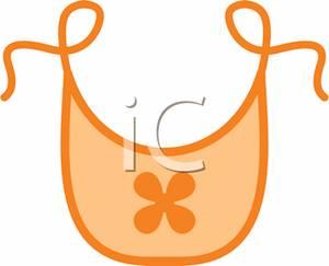 An Orange Babyu0026#39;s Bib - Clipart