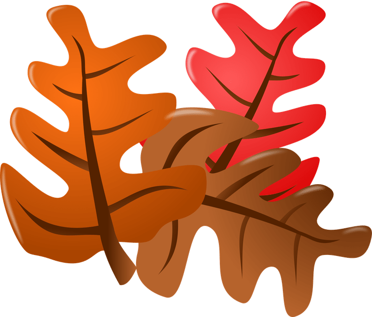 An orange, red, and brown fall leaf.
