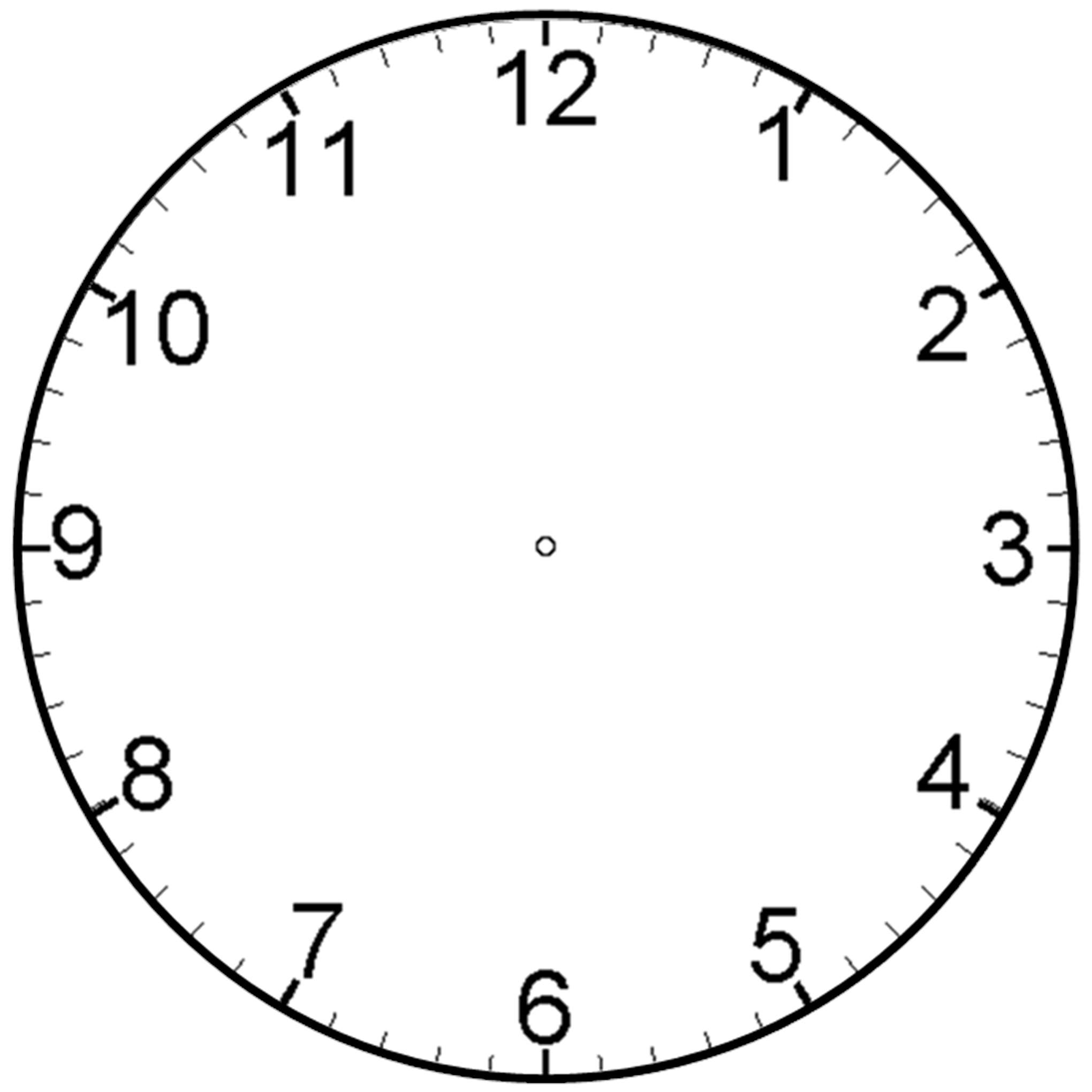 Analog Clock Face Template Clipart Best