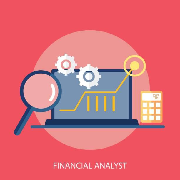 Financial Analyst Conceptual Design vector art illustration