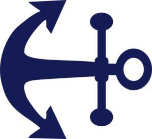 Anchor clip art - vector clip .