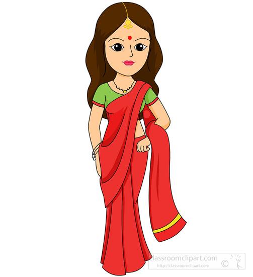 Ancient indian woman clipart - ClipartFest