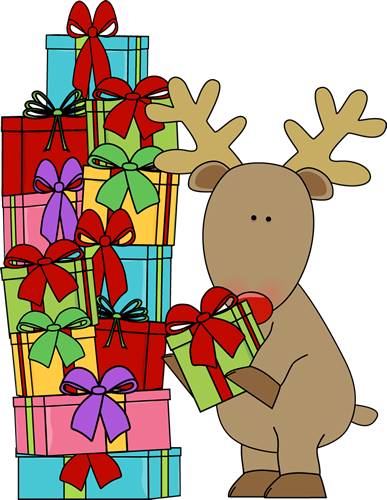 And Christmas Gifts Clip Art Reindeer And Christmas Gifts Image