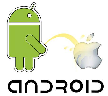 Android vs Apple vektör kaynak