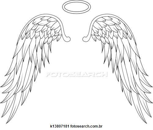 Angel wings Stock Illustrations. 4840 angel wings clip art images and royalty free illustrations available