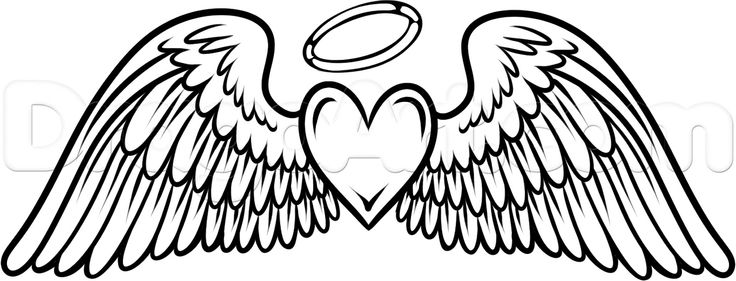 ... Angel wings with halo clip art ...