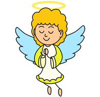 angel with halo praying clipart. Size: 62 Kb