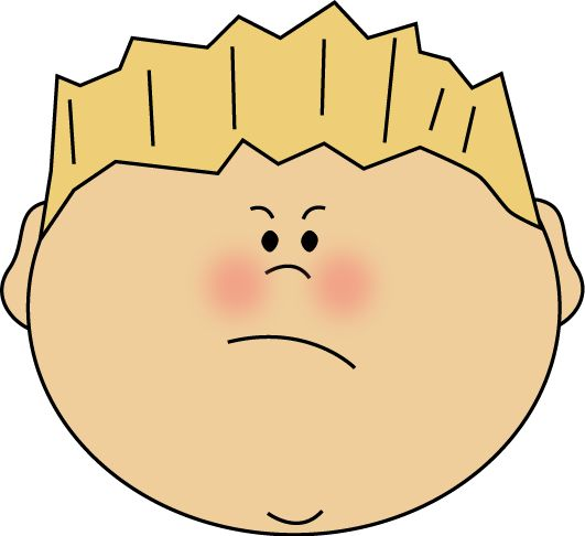 Angry Face Boy. Angry Face Boy. Face Clipart