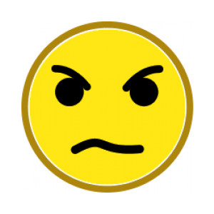 Angry face clip art free .