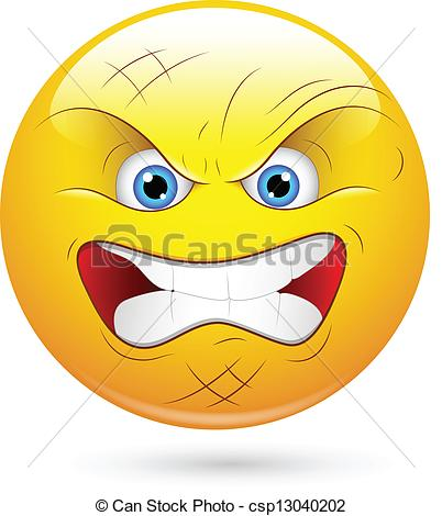 Angry Player Smiley Face - .