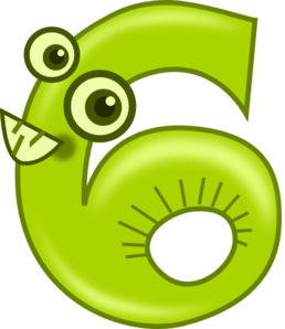 Animal Number 6 Clipart